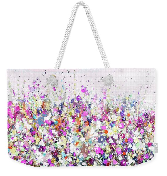 Summer Days Pink Weekender Tote Bag