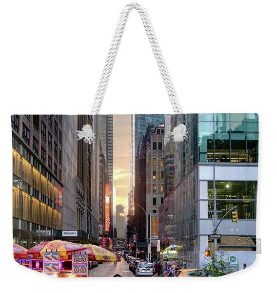 Summer Evening, New York City  -17705-17711 Weekender Tote Bag