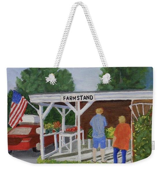 Summer Farm Stand Weekender Tote Bag