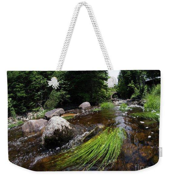 Summer Flow Of Water Near Rangeley Maine  -63322 Weekender Tote Bag