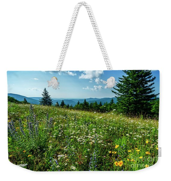 Summer Flowers In The Highlands Weekender Tote Bag