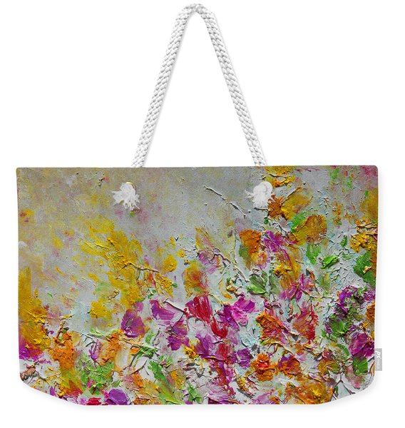 Summer Fragrance Abstract Painting Weekender Tote Bag