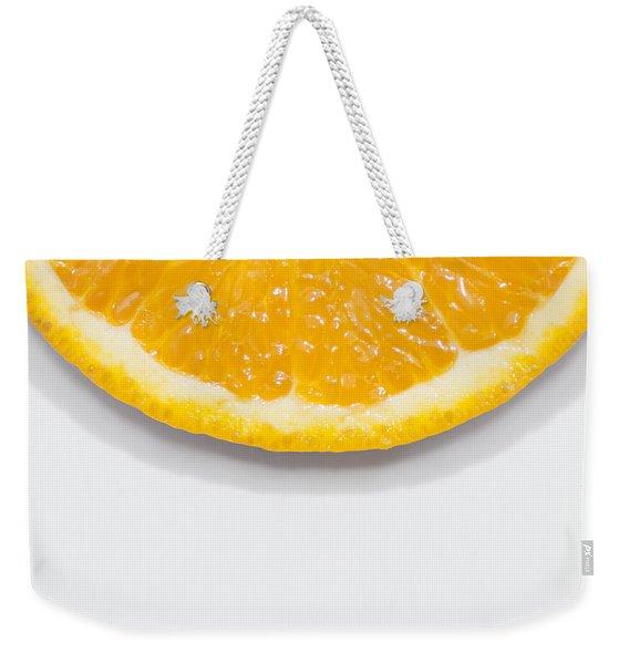 Summer Fruit Orange Slice On Studio Copyspace Weekender Tote Bag