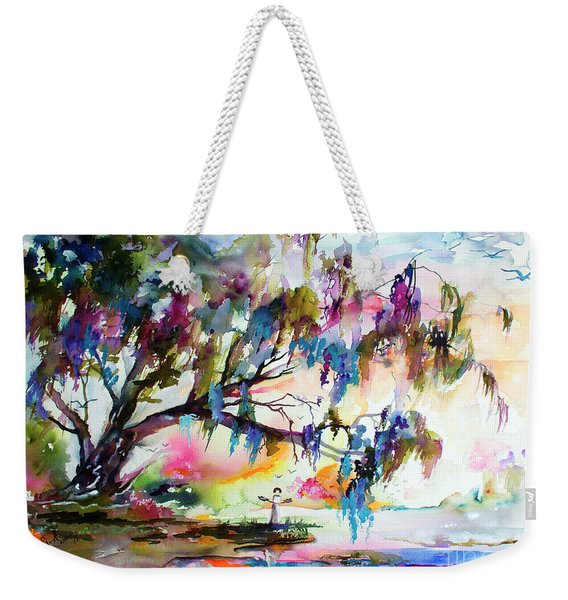 Summer In The Garden Of Good And Evil Watercolor Weekender Tote Bag