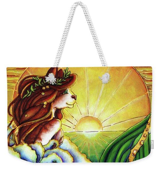 Summer Mermaid Weekender Tote Bag