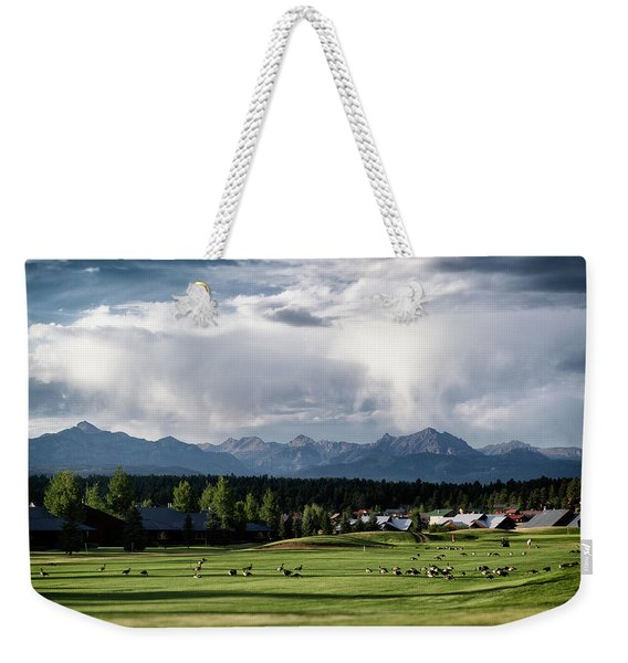Weekender Tote Bag featuring the photograph Summer Mountain Paradise by Jason Coward
