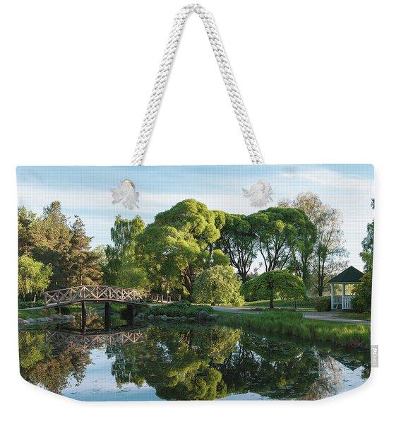 Summer Park Weekender Tote Bag