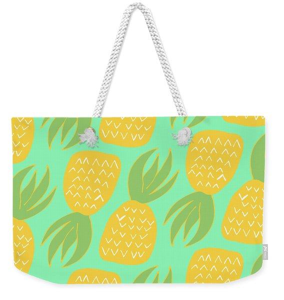Summer Pineapples Weekender Tote Bag