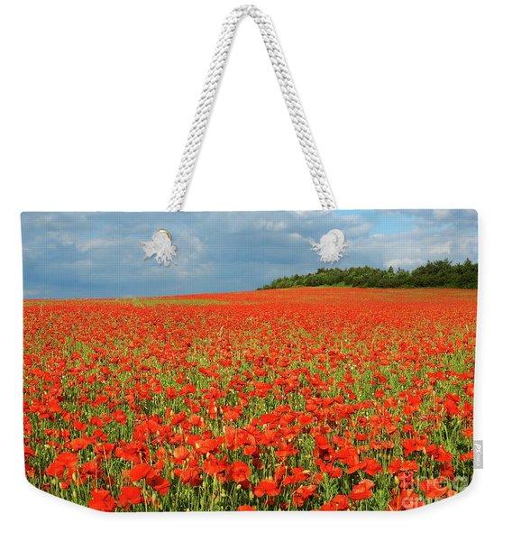 Summer Poppies In England Weekender Tote Bag