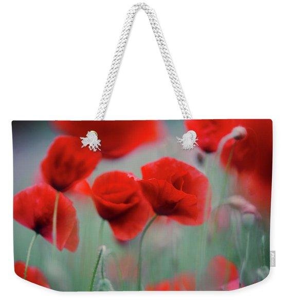 Summer Poppy Meadow 2 Weekender Tote Bag