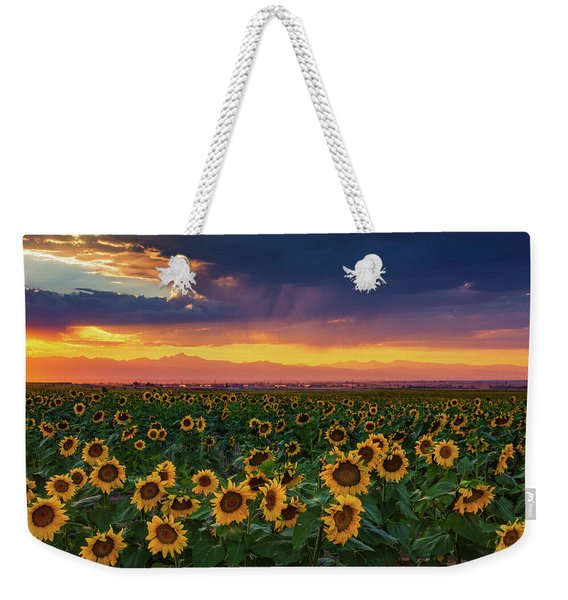 Weekender Tote Bag featuring the photograph Summer Radiance by John De Bord