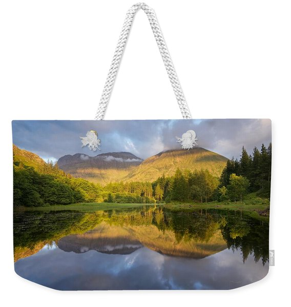 Summer Reflections At The Torren Lochan Weekender Tote Bag