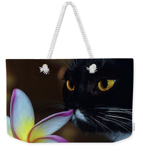 Summer Sniffing Plumaria Weekender Tote Bag