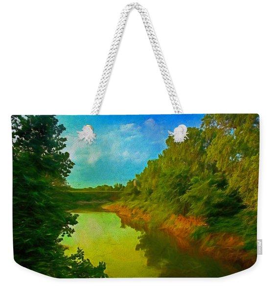 Summer Soft Morning Creek Weekender Tote Bag