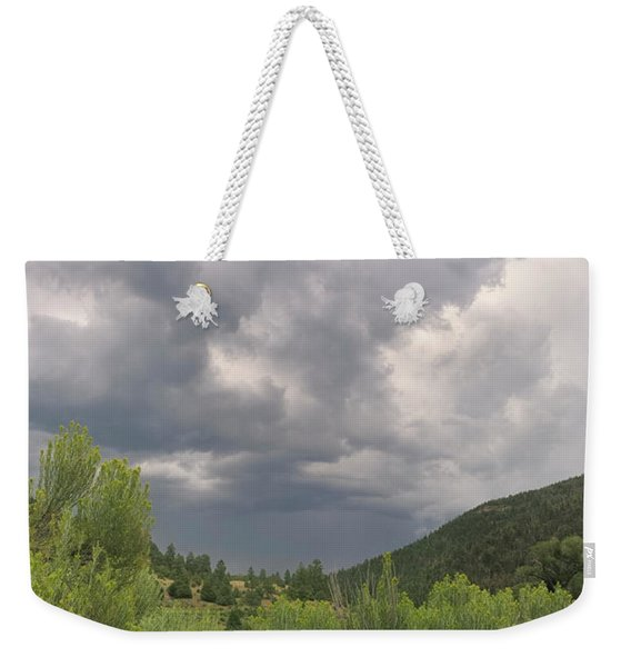 Weekender Tote Bag featuring the photograph Summer Storm by Ron Cline
