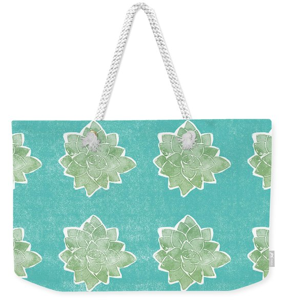Summer Succulents- Art By Linda Woods Weekender Tote Bag