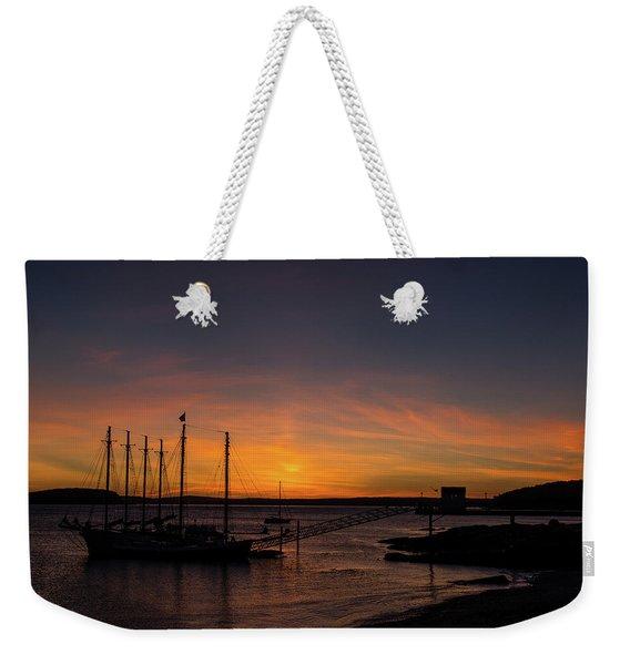 Summer Sunrise In Bar Harbor Weekender Tote Bag