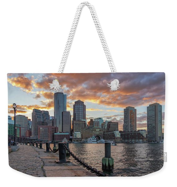 Summer Sunset At Boston's Fan Pier Weekender Tote Bag