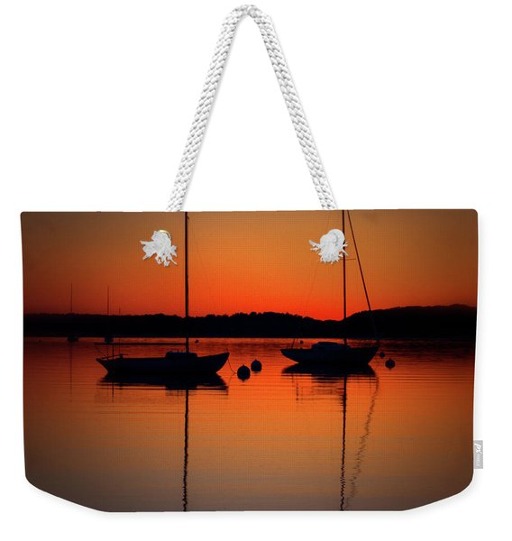 Summer Sunset Calm Anchor Weekender Tote Bag