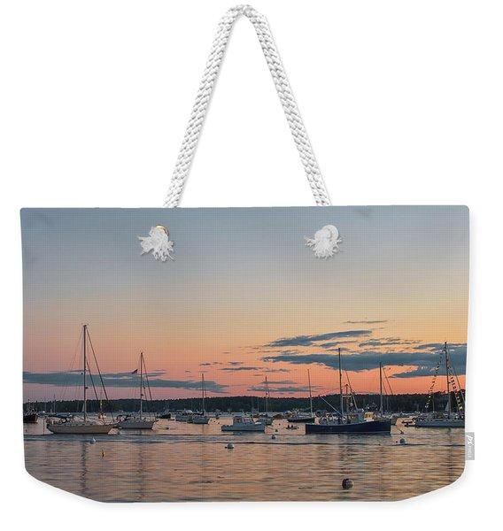 Summer Sunset In Boothbay Harbor Weekender Tote Bag