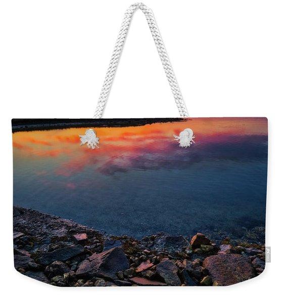 Summer Sunset In Rye Weekender Tote Bag