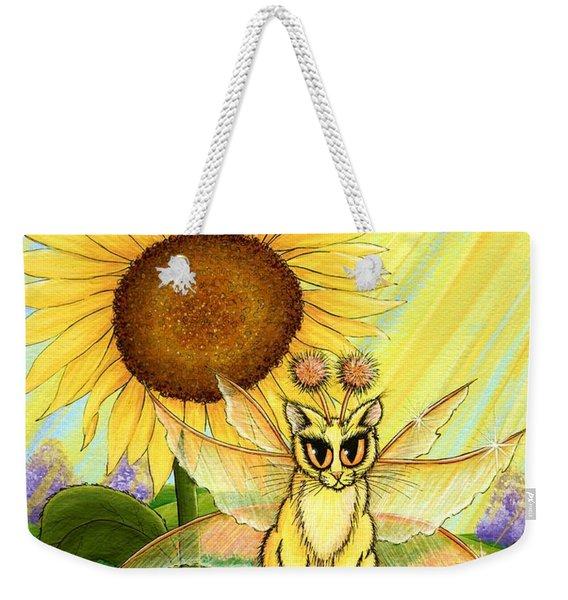 Summer Sunshine Fairy Cat Weekender Tote Bag