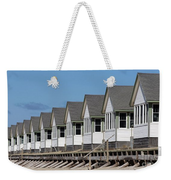 Summer Vacation Cottages At The Beach Weekender Tote Bag