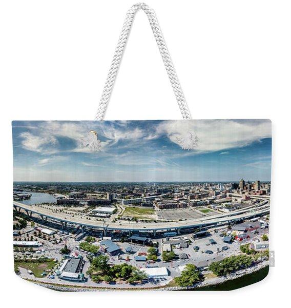 Summerfest Panorama Weekender Tote Bag