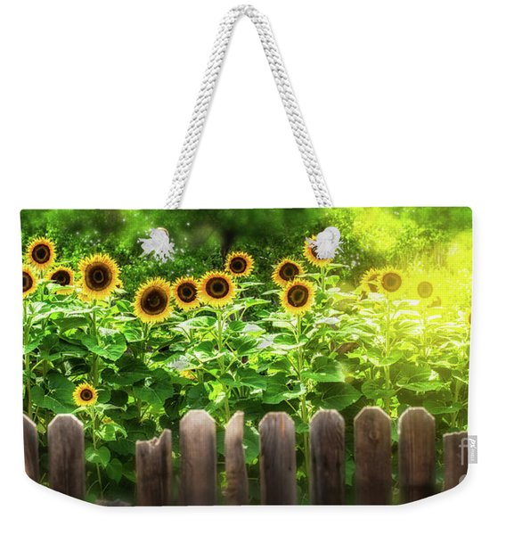 Summer's Sunflowers Weekender Tote Bag