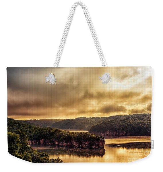 Summersville Lake At Daybreak Weekender Tote Bag