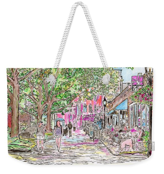 Summertime In Newburyport, Massachusetts Weekender Tote Bag