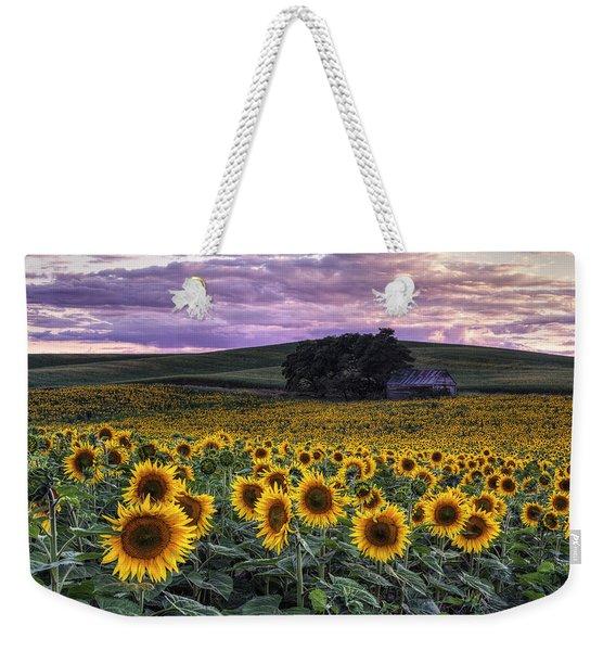 Summertime Sunflowers Weekender Tote Bag