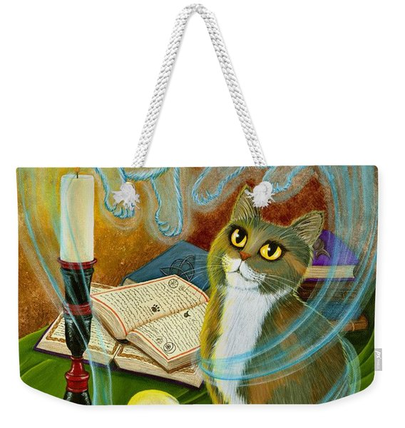 Summoning Old Friends - Ghost Cats Magic Weekender Tote Bag