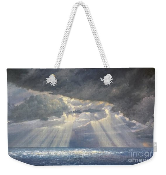 Weekender Tote Bag featuring the painting Storm Subsides by Rosario Piazza