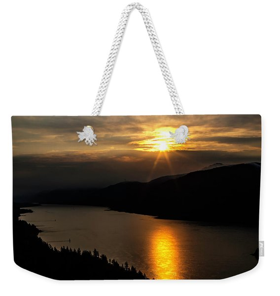 Sun And Clouds Over The Gorge Weekender Tote Bag