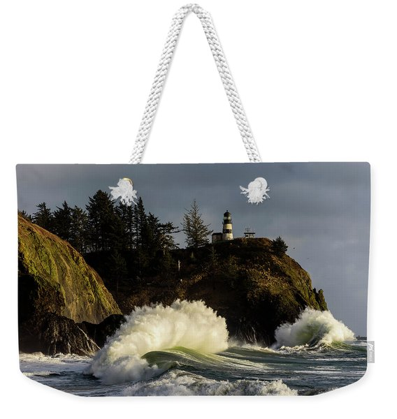 Sun And Surf With Lighthouse Weekender Tote Bag
