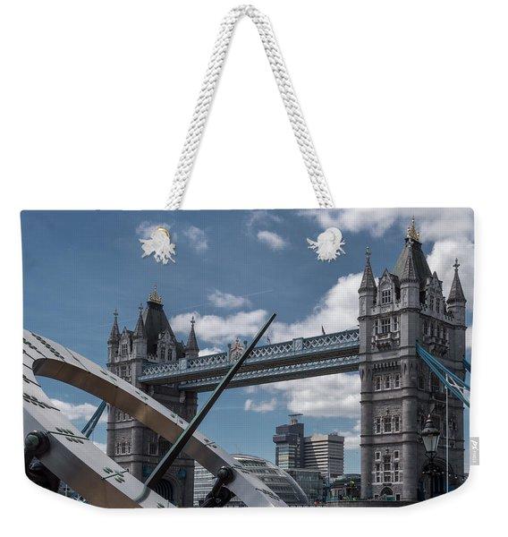 Sun Clock With Tower Bridge Weekender Tote Bag