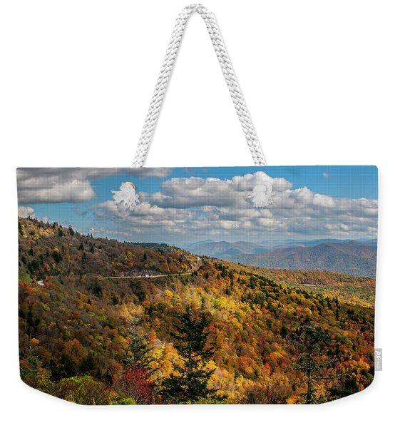Sun Dappled Mountains Weekender Tote Bag