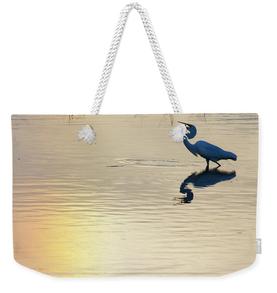 Sun Dog And Great Egret 1 Weekender Tote Bag