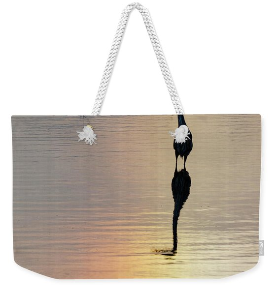 Sun Dog And Great Blue Heron 1 Weekender Tote Bag