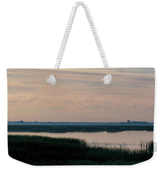 Sun Dog And Great Blue Heron 2 Weekender Tote Bag