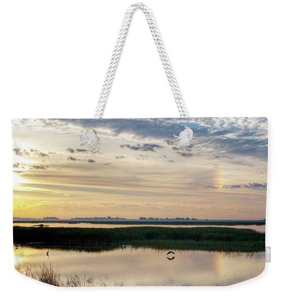 Sun Dog And Herons Weekender Tote Bag