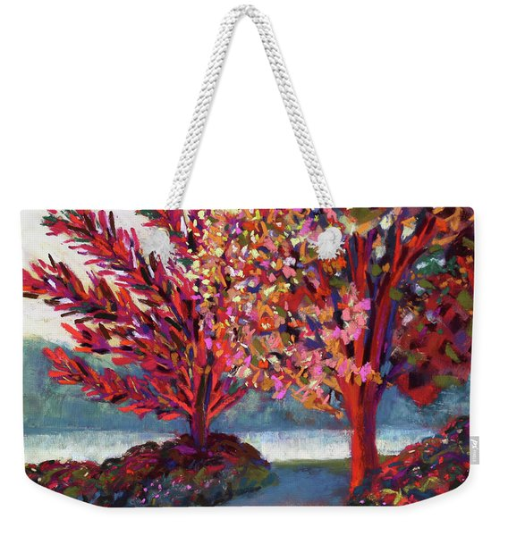 Sun Drenched By The River Weekender Tote Bag