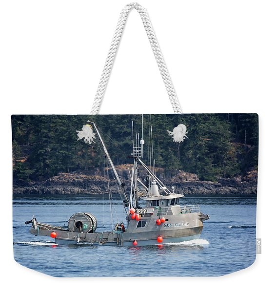 Sun Fisher Off Campbell River Weekender Tote Bag