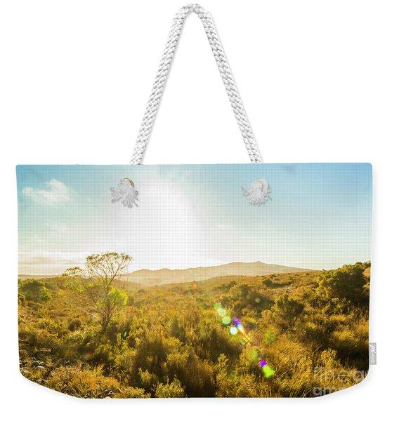 Sun Flare Prairie  Weekender Tote Bag