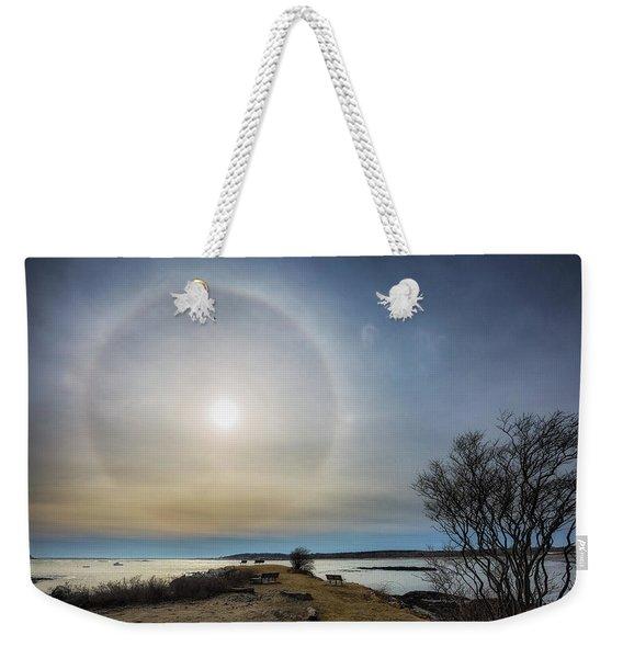 Sun Halo Weekender Tote Bag