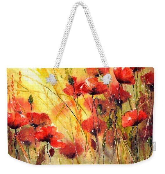 Sun Kissed Poppies Weekender Tote Bag