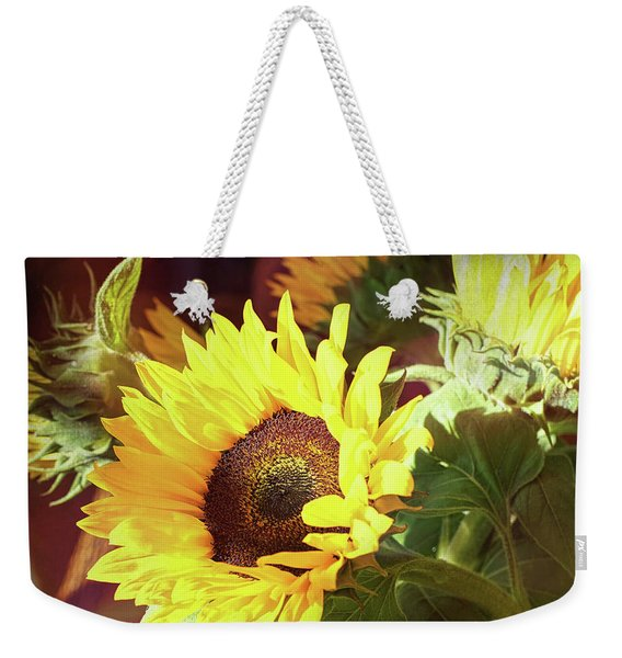 Weekender Tote Bag featuring the photograph Sun Of The Flower by Michael Hope