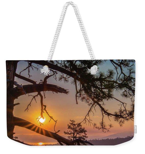 Sun Ornament Weekender Tote Bag
