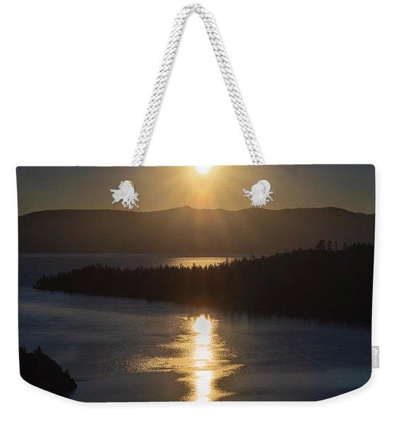 Sun Rising Over Lake Tahoe Weekender Tote Bag